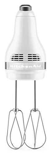 KitchenAid 5KHM5110EWH Handrührer mit 5 Geschwindigkeitsstufen-WEISS, Werkstoff Gehäuse: Kunststoff