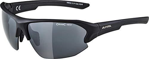 Alpina Unisex– Erwachsene LYRON HR Sportbrille, schwarz, One Size