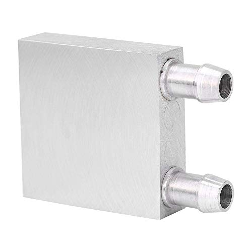 Bloque de refrigeración por agua - Radiador de CPU de aluminio Bloque de refrigeración por agua Refrigerador de agua líquida Disipador de calor para PC portátil (404012 mm)