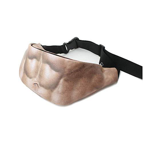 Herren Damen Bauchtasche Lustige Bauch Hüfttaschen Gürteltasche Gürtel Taille Beutel Zip Bauchtasche für Outdoor Sport Wandern Running Stil1