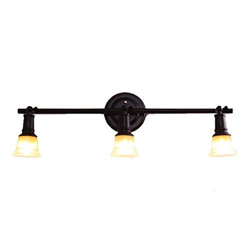 Europese Retro 3 Koplampen Schilderen Spiegel Koplampen Smeedijzer Amerikaanse LED Wandlamp Aisle Woonkamer Enkele Hoofd Koper Downlight