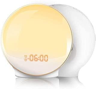 TITIROBA 目覚まし時計 光 大音量 目覚ましライト Wake Up Light デジタル めざまし時計 子ども 自然音 ウェイクアップライト ベッドサイドランプ アラーム スヌーズ機能 おしゃれ FMラジオ 間接照明 寝室 室内 コンセント