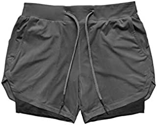 Running Shorts - Men's Casual Shorts 2 in 1 Running Shorts Quick Drying Sport Shorts Gyms Fitness Bodybuilding Workout Bui...