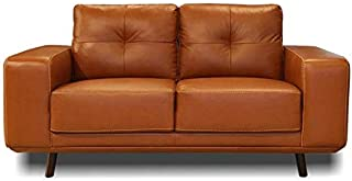 Genuine Leather Loveseat - Fiesta Collection (Wild Brandy)