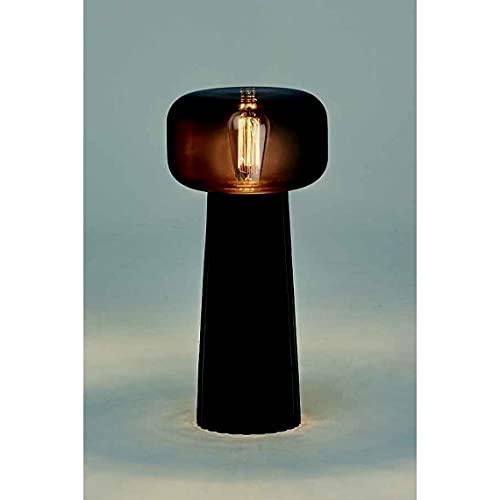 Mantra Iluminación. Modelo FARO. Lámpara de sobremesa fabricado en cristal acabado en color negro