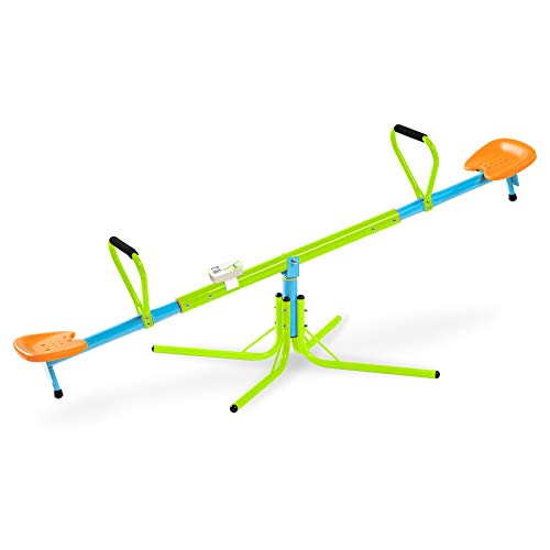 Pure Fun 360 Swivel Kids Seesaw with Phonetic Counter, Indoor or Outdoor, Ages 3 to 7