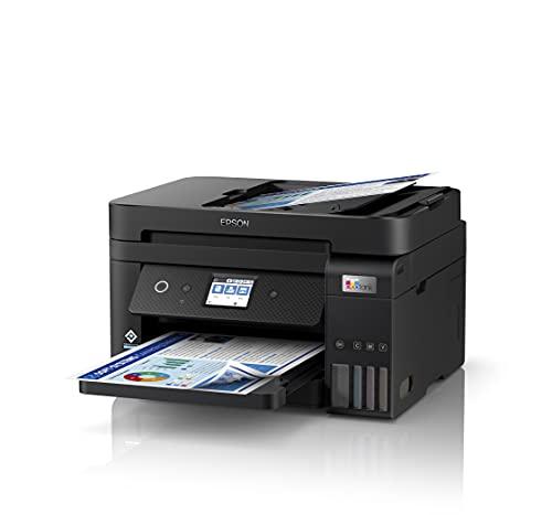 Epson EcoTank ET-4850   Impresora WiFi A4 Multifunción 4en1 con Depósito de Tinta Recargable, Fax, Impresión Doble Cara Automática (Dúplex), Pantalla LCD Táctil, Bandeja Frontal   Mobile Printing
