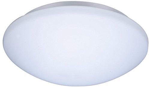 ZEYUN Lámpara LED de techo moderna, Plafón led de techo redonda IP44, Luz de cocina, Luz de dormitorio, 60W, Ø 280 mm, toma E27, blanca(sin sensor de movimiento, sin bombilla LED)
