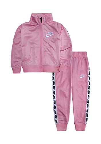 Nike Little Girls Tricot Track Suit 2-Piece Set (5) Pink