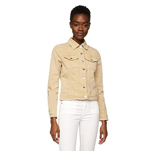 United Colors of Benetton 2WP1535T3 Giacca in Jeans, Beige (Beige 903), L Donna