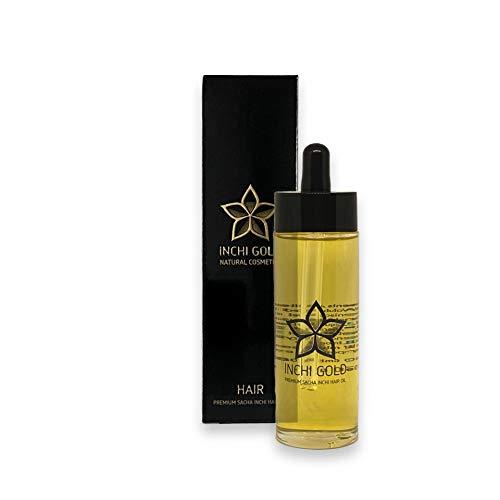 INCHI GOLD Premium Sacha-Inchi-Haaröl (50 ml), vegan, Anti-Spliss-Wirkung, beruhigt die Kopfhaut
