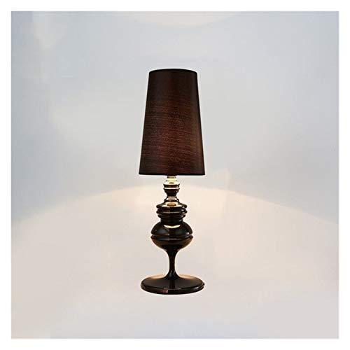 JSJJARF Lámpara de Mesa Oro Blanco Negro Mesa Moderna de luz LED Lámpara de cabecera de la Sala de Bodas artefacto de iluminación (Emitting Color : 2, Size : 3)