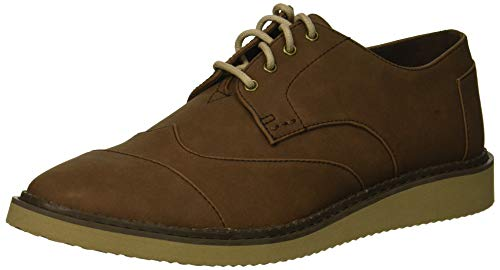 TOMS Men's Brogue Oxford, bark Synthetic Leather, 14 Medium US