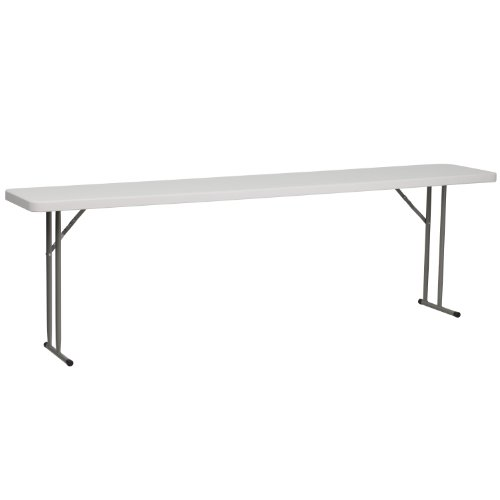 Flash Furniture 8-Foot Granite White Plastic Folding Training Table, RB-1896-GG