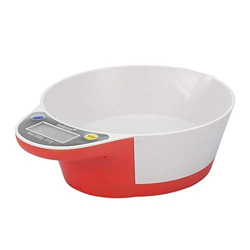 Huishoudelijke elektronische digitale keukenweegschaal Display Elektronische keukenweegschaal Digitale weegschaal Elektronische keukengereedschap Kom met een gewicht van rood