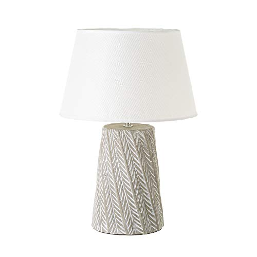 Lámpara con hojas exótica de cemento gris, de ø 29x43 cm - LOLAhome