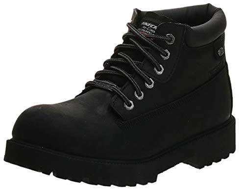 Skechers Men s Sergeants Verdict Chukka Boot,Black Waterproof Oiled Smooth Leather,10 M US