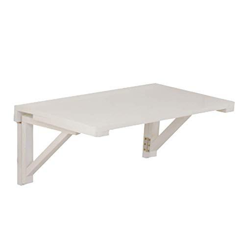 Wand-Massivholz-Aufbewahrungstisch Schreibtisch, Faltbarer Computertisch Schreibtisch Tisch Tragbarer Esstisch, Multi-Size Optional, BOSS LV, Weiß,