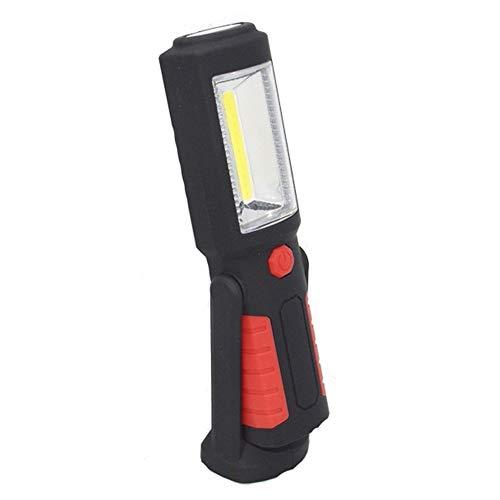 Pvnoocy Faro de trabajo LED, lámpara COB recargable, soporte magnético con 5 modos, linterna brillante para reparación de coches