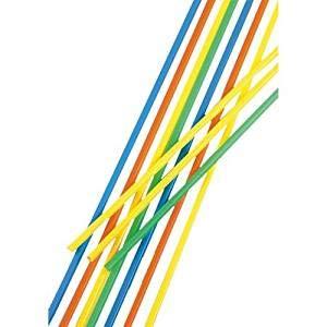 PAPSTAR 500 Trinkhalme, Maxi, Ballerman-Trinkhalm, Ø 6,5 mm, 75 cm, farbig Sortiert, 11700