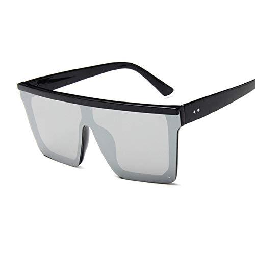 Gjhnyd New Black Square Sunglasses Women Big Frame Fashion Retro Mirror Sun Glasses Women Sunglasses DrivingOutdoor Travel Sunglasses