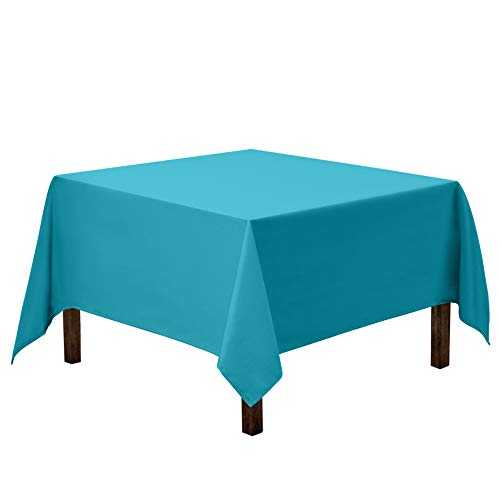 Gee Di Moda Square Tablecloth - 70 x 70 Inch - Caribbean Square Table Cloth for Square or Round Tables in Washable Polyester - Great for Buffet Table, Parties, Holiday Dinner, Wedding & More
