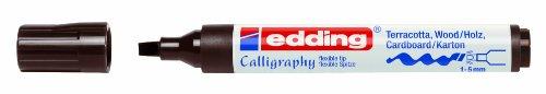 Edding Creative Calligraphy Marker 1455Dark Brown 1to 5mm