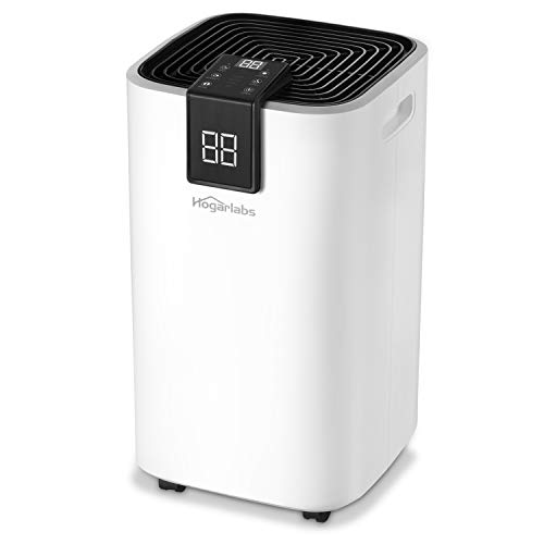 HOGARLABS 16L Dehumidifiers for Home Damp, Intelligent Dehumidifier with Continuous Drainage, 24hr Timer Auto-off, Laundry Drying Dehumidifier Ideal for Home, Bedroom, Bathroom, Basement