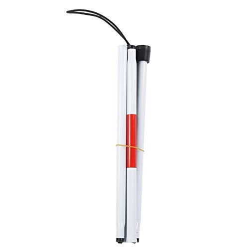 KIRSTHM La Muleta Plegable Se Puede Doblar con Caña Blanca Reflectante Roja para Discapacitados Visuales Ciegos ⭐