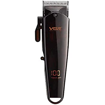 VGR V165 Electric Rechargeable Cordless Close Cutting T Blade Trimmer for Men 0mm Baldheaded Hair Trimmer Beard Shaver
