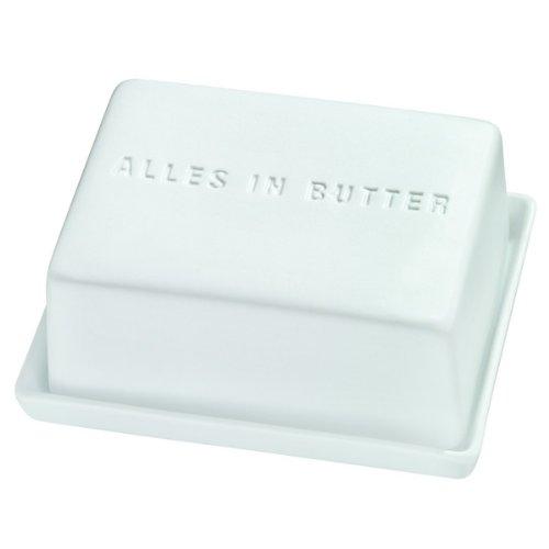 Räder Poesie et Table - Mantequillera, con Texto Alles in Butter Räder Desayuno.