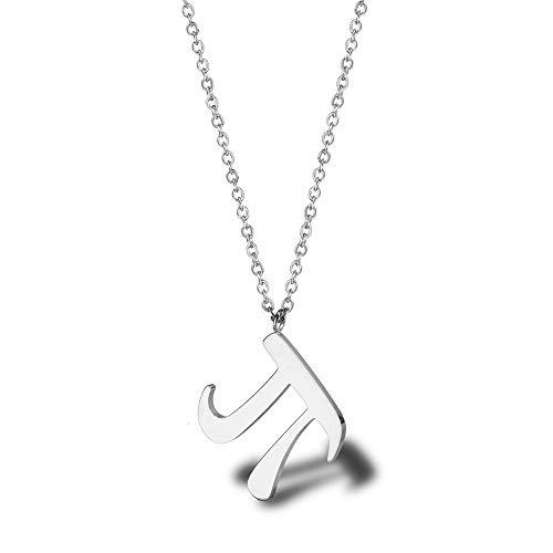 N\\A JYBSN Schlüsselbeinkette Für Frauen Zahlensymbol Anhänger Halskette Titan Stahl 18 Karat Vergoldete Griechische Buchstaben