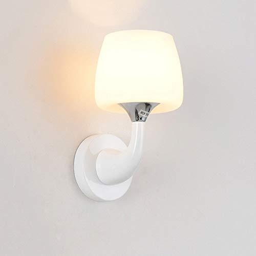 Moderne lampenkap van creatief glas met enkele kop, dubbele kop, wandlamp, warme en eenvoudige kinderkamer, woonkamer, bedlampje, hal (kleur: