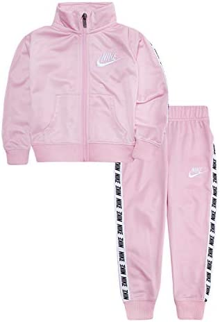 NIKE Children s Apparel Girls Toddler Tricot Track Suit 2 Piece Set Pink White 3T product image