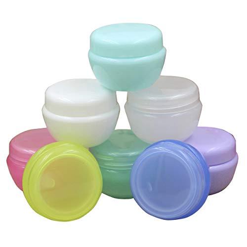 MoreChioce 10 Pièces Pots de Creme Vide,50 ML Contenant Cosmétique avec Couvercle Maquillage Récipient Rechargeable Make Up Stockage Plastique