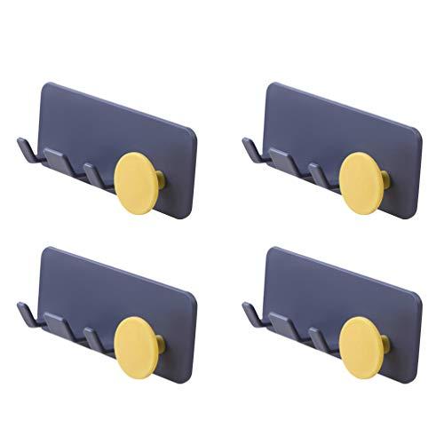 Cabilock 4 Piezas Clips para Sujetar Cables Montaje en Pared Autoadhesivo para La Gestión de Cables Organizador Clips para Sujetar Cables Organizador para La Oficina en Casa (Color