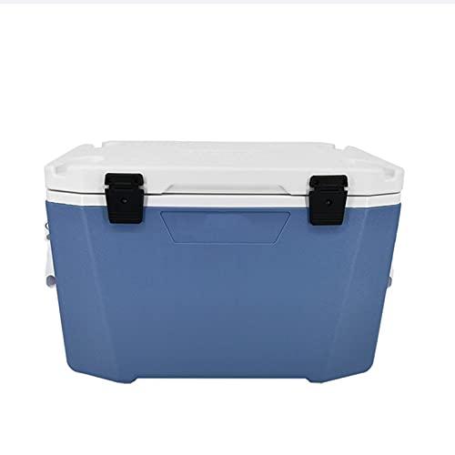 Caja De Enfriamiento para Alimentos Y Bebidas, 50 litros, Caja De Hielo Robusta, Diseño Portátil Y Liviano, Se Utiliza para Acampar En La Naturaleza, Picnics, Viajes a La Playa (Azul)