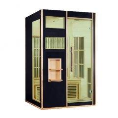 Jet-Line Designer Sauna warmtecabine infrarood carbon verwarming model Andenes zwart 2 personen