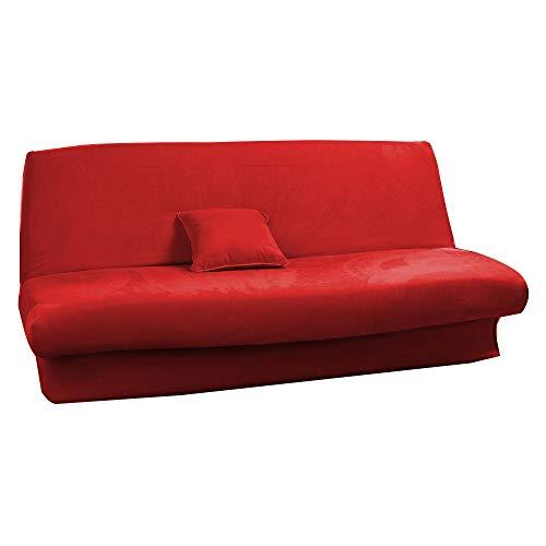 Antonouse - Funda de sofá cama extensible de 120 a 140 cm, 180 a 200 cm, color rojo