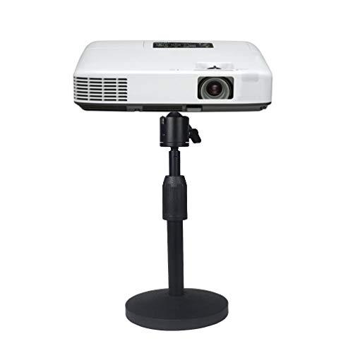 Dran Mini Soporte de Proyector, Trípode de Mesa, Altura Ajustable de 20-28cm - Carga hasta 2Kg - Tornillo de Montaje 1/4 Pulgadas - para Mini Proyector, Adaptador de móvil, Micrófono y Lámaras