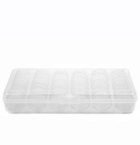 Storage Box Divider Tray 42 Round Individual Clear Containers Multi-Functional Organizer for Small Items