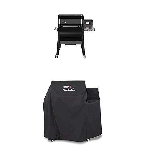 Weber 22510001 SmokeFire EX4 Wood Fired Pellet Grill, Black