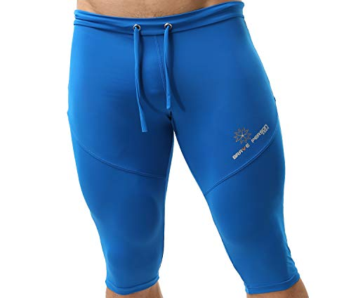 BRAVE PERSON Men's Sports Shorts Quick-Dry Swim Trunks, Fitness, Running, Cycling Pants 2221 (M/Waist 28''-32'', Blue)