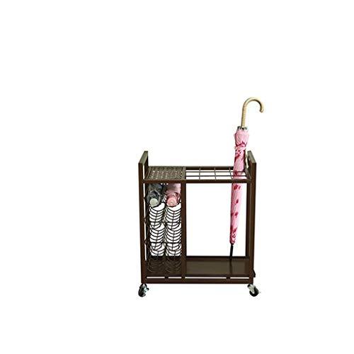 N/Z Haushaltsgeräte Blumenständer Haushaltsboden Schirmständer/Schirmständer/Mobiler Regenschirm Platzierter Aufbewahrungseimer YGDH (Farbe: Schwarz) Farbe: Schwarz Regalregal (Farbe: Schwarz)