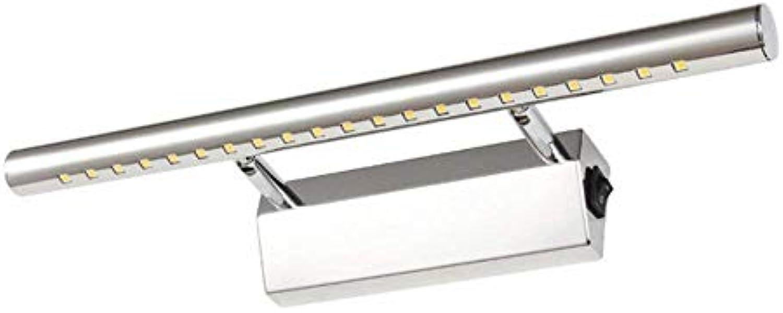 Mirror Lamps Home Spiegel-vorderes Licht-Edelstahl-Mode-einfaches geführtes Badezimmer-Spiegel-Lampe Wasserdichte rostfreie Lampe (Farbe   Large)