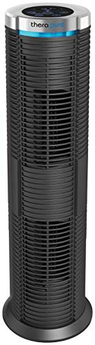 Envion by Boneco - Therapure TPP240 – Easy to Clean HEPA Type Air Purifier Tower - UV Germicidal Hemispheric Purification - Removes Odors, Smoke, Mold, Pet Dander & More - 343 Sq Ft Capacity