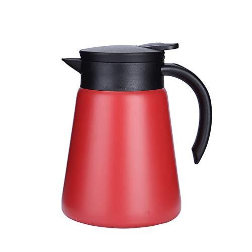 JOYSIP - Jarra térmica de acero inoxidable con asa, doble pared con aislamiento al vacío para agua caliente, té, café, 12 horas de retención de calor, 900 ml