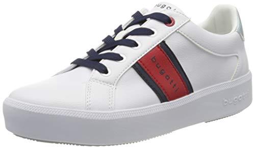bugatti Damen 4324071B5050 Sneaker, Weiß (White/Red 2030), 38 EU