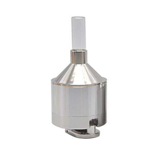 BESTOMZ Pulver Grinder Metallhandgewürz Schleifer mit Glasflasche