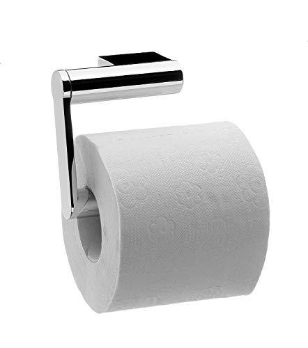 Emco System 2 Toilettenpapierhalter, chrom, Klopapierhalter, ohne Deckel, Rollenhalter, Wandmontage - 350000107